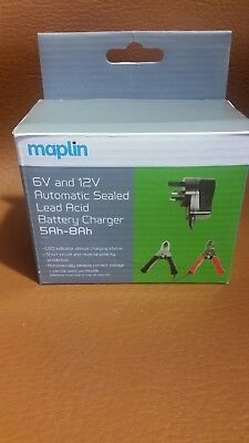 Maplin 6v and 12v Automatic Sealed Lead Acid Battery Charger 5Ah-8Ah.