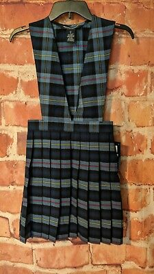 French Toast School Uniform Girls Blue Plaid Pleated Jumper Size 12,nwt Y9002