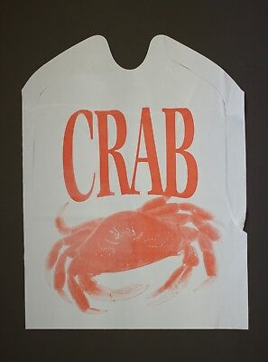 25 Pack Of Misprinted Disposable Plastic Crab Bibs Free Shipping