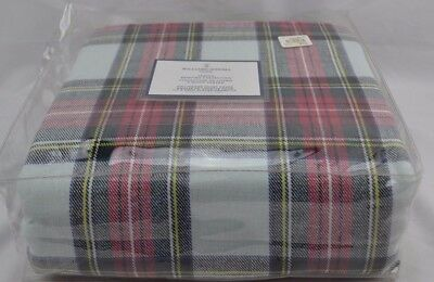 Williams Sonoma New Tags In Package Stewart Tartan Bedding Duvet Queen Christmas