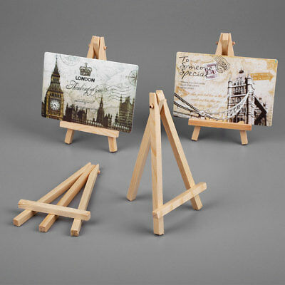 10pcs Mini Wooden Art Painting Name Card Craft Photo Easel Stand Supplies