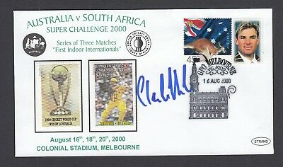 cricket FDC - Australia Vs South Africa 2000  - signed by Claude Henderson