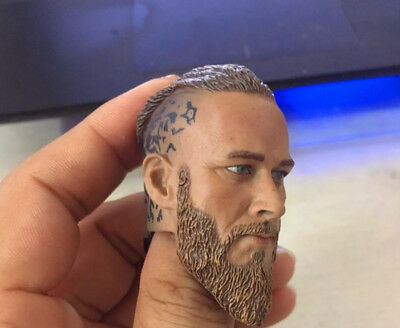 "1/6th Scale The Vikings Ragnar Lothbrok Head Sculpt For 12"" Male Action Figure"