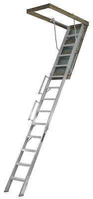 Louisville Ladder 22.5-Inch by 63-Inch Aluminum Attic Ladder, Fits 10' to 12'