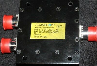 CommScope Andrew S-2-CPUSE-L-Ni Two-way Power Splitter 698–2700MHz Device x 2
