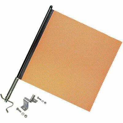 Heavy Duty Spring Warning Flag Kit With Universal Mounting Bracket