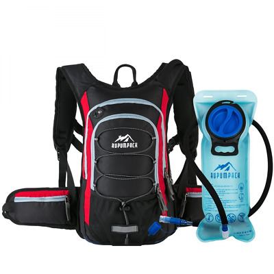 Insulated Hydration Backpack Pack with BPA FREE Water Bladder Keeps Liquid Cool