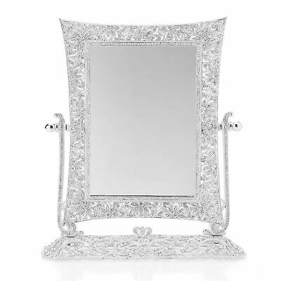 Silver Swiveling Vanity Mirror Winsdor 3x Magnification with European Crystals