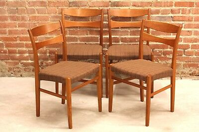 Pleasant Danish Mid Century Modern Teak Dining Chairs Four 4 Bralicious Painted Fabric Chair Ideas Braliciousco