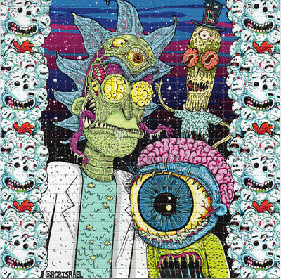 Rick and Morty by Rob Israel - BLOTTER LSD ART sheet tabs Acid Free psychedelic