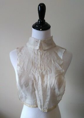 Antique Victorian Edwardian Embroidered Sheer Organdy Collar Yoke