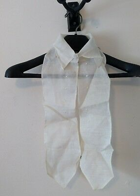 Antique Edwardian Victorian Embroidered Organdy Pleated Collar Yoke