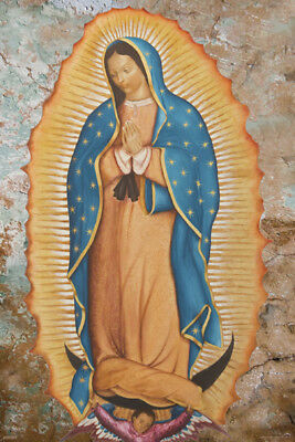 Our Lady Of Guadalupe Virgin Mary 24X36 Poster Religion Holy Spirit Gift Beauty!