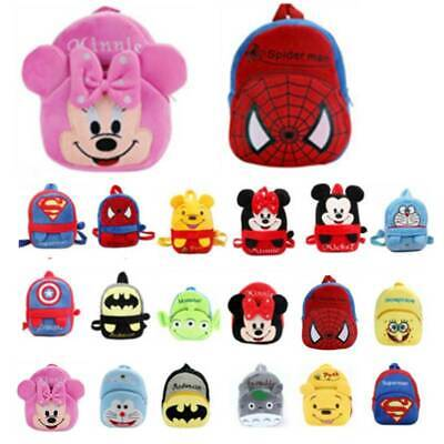 Toddler Kids Baby Boys Girls Mini Backpack Cartoon Animal Plush Small School Bag