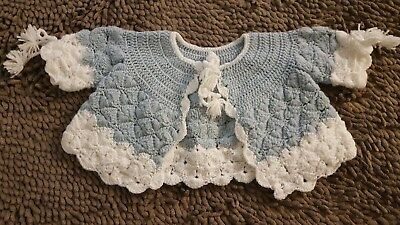Handmade*Blue&White Vintage Dress Sweater*Baby Girl 3-6mos*GVC
