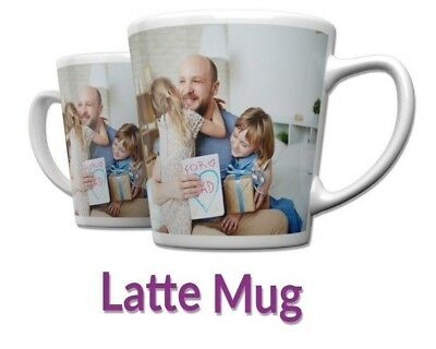 Personalised 12oz Latte Mug Custom Tea/Coffee Cup Your Image Design Gift Present
