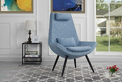 Awesome Contemporary Light Blue Fabric Upholstered Grid Tufting Cjindustries Chair Design For Home Cjindustriesco