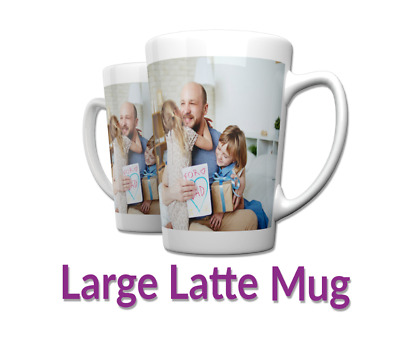 Personalised 17oz Latte mug Custom Tea/Coffee Cup Your Image Design Gift Present