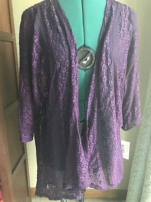 lularoe lindsay size small purple lace cover up 20 00 picclick