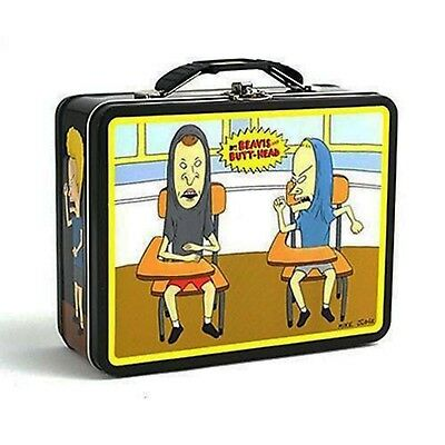 Beavis and Butthead Metal Tin Lunch Box Classroom NEW MTV