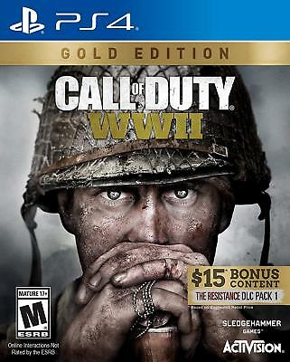 Call of Duty: WWII Gold Edition (PlayStation 4, 2018) PS4 Brand NEW Sealed