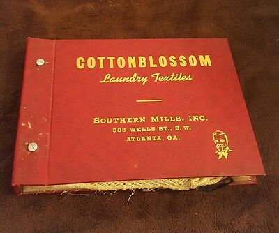 Antique Cottonblossom Southern Mills Atlanta GA Textile Sample Salesman Book 19p