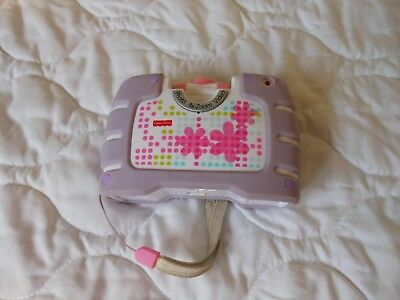 Fisher Price Digital Camera Purple Flowers Kid Tough rubber Tested & Work