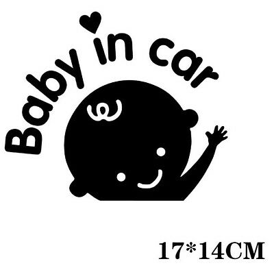 baby in car Car sticker Bumper Van Window Laptop JDW VINYL Decals Stickers