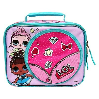 L.O.L surprise lunch tote lol bag pink Miss baby new nwt glitter Doll Holder