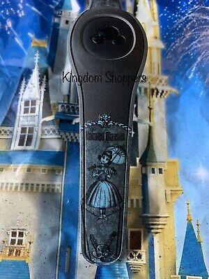 Disney BLACK HAUNTED MANSION LADY ON TIGHTROPE Magic Band Magicband Parks