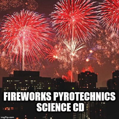 The Pyrotechnist's Treasury Fireworks Pyrotechnics Explosives Chemistry CD