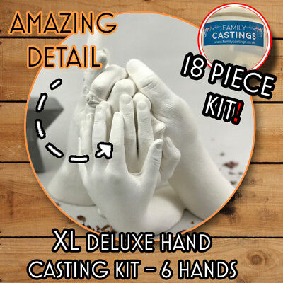 XL Hand Casting Kit Deluxe, Alginate with bucket, 5-6 hand casting kit XL