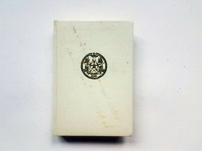 Authorized Standard Ritual Order Of The Eastern Star NY Book 1952 w/ Hand Note
