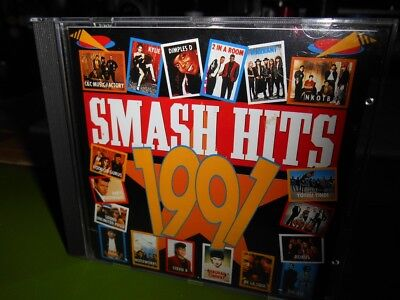 Smash Hits 1991 18-track CD Disctronics Noiseworks Roxus Skyhooks Kylie Minogue
