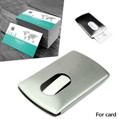 Business Name Credit ID Card Holder Box Metal Stainless Steel Pocket Box Case ZH