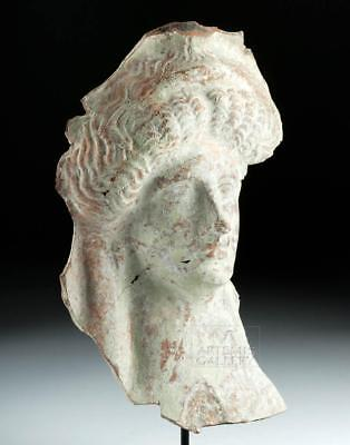 Large Greek Terracotta Protome of a Goddess Lot 25B