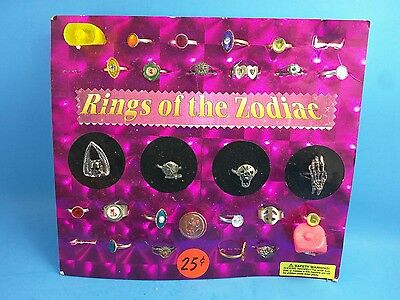 Vintage Gumball Machine Header Toys Display - Rings of the Zodiac Skeleton