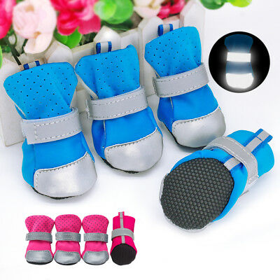 Pet Dog Shoes Small Meidum Mesh Boots Booties for Snow Rain Reflective Anti-slip