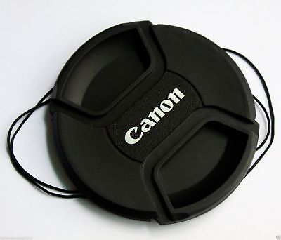 Front 49/52/55/58/62/67/72/77/82mm Lens Cap  Center Snap on Lens cap  for Canon