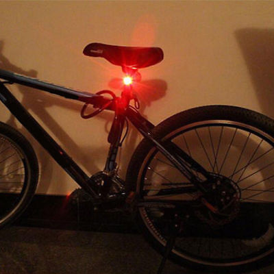 LED Cycling Bike Bicycle Front Rear Tail Helmet Red Flash Safety Light Lamp