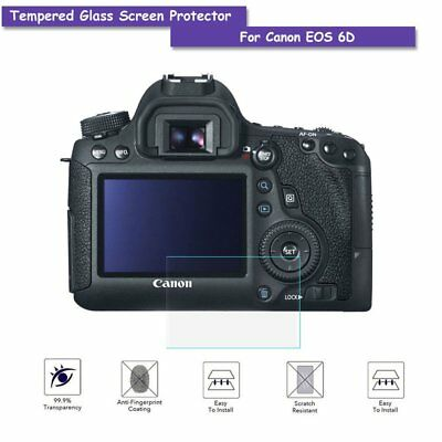 Tempered Glass LCD Screen Protector Guard Film for Canon EOS 6D Camera
