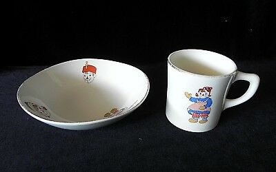 Crooksville Iva-Lure RAGGEDY ANN & ANDY CHILDS BOWL AND CUP Made in USA