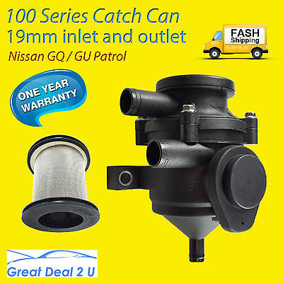Pro 100 Oil Catch Can Crankcase Stainless Filter 100kw For Nissan Patrol