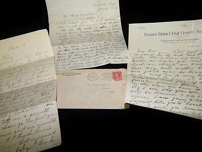 Vintage Cover,2 c USA ENVELOPE WITH LETTERS,To Ithaca,OH,1916,Prosser Fruit Grow