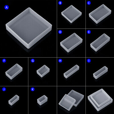 Silicone Mold DIY Square Rectangle Exopy Resin Mirror Mould Jewelry Decoration