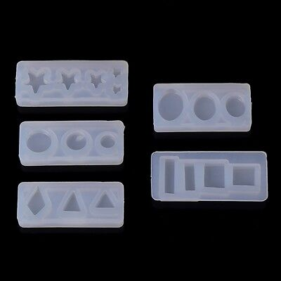 Silicone Mold DIY Mould Exopy Resin Mirror Crafts Jewelry Making Pyramid Decor
