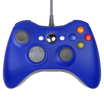 Wired USB Game Pad Controller for Microsoft Xbox 360 Slim Windows 7 Blue