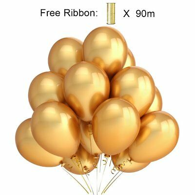 PuTwo Palloncini Party 12 Inch 100 Pack Colore Oro Latex Balloonsfor (d0Y)