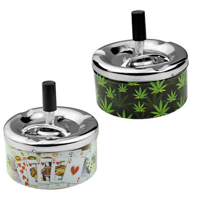 Variety Upgrade Portable Practical Spinning Rotation Plain Cigarette Ashtray
