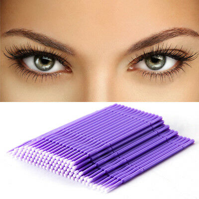100Pcs Swab Micro Brush Disposable Microbrush Applicators Eyelash Extensions E